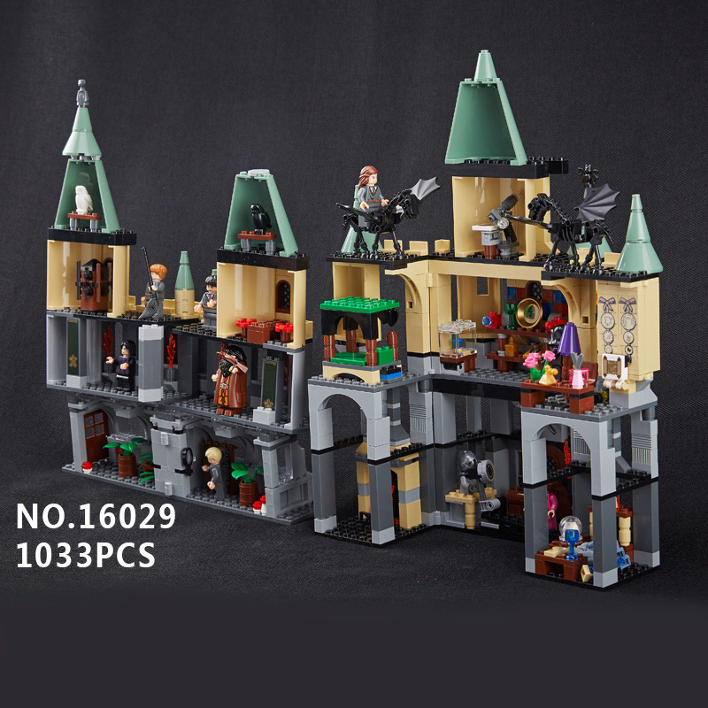 Compatible Legoe Movie Series 5378 Lepin 16029 1033pcs magic Hogwort Castle Model building blocks bricks toys for children