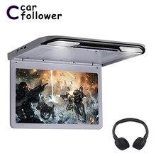 13.3 Polegada monitores de teto hd 1920x1080 tela de deslizar no carro dvd mp5 player com hdmi/transmissor usb/sd/ir/fm/alto falante