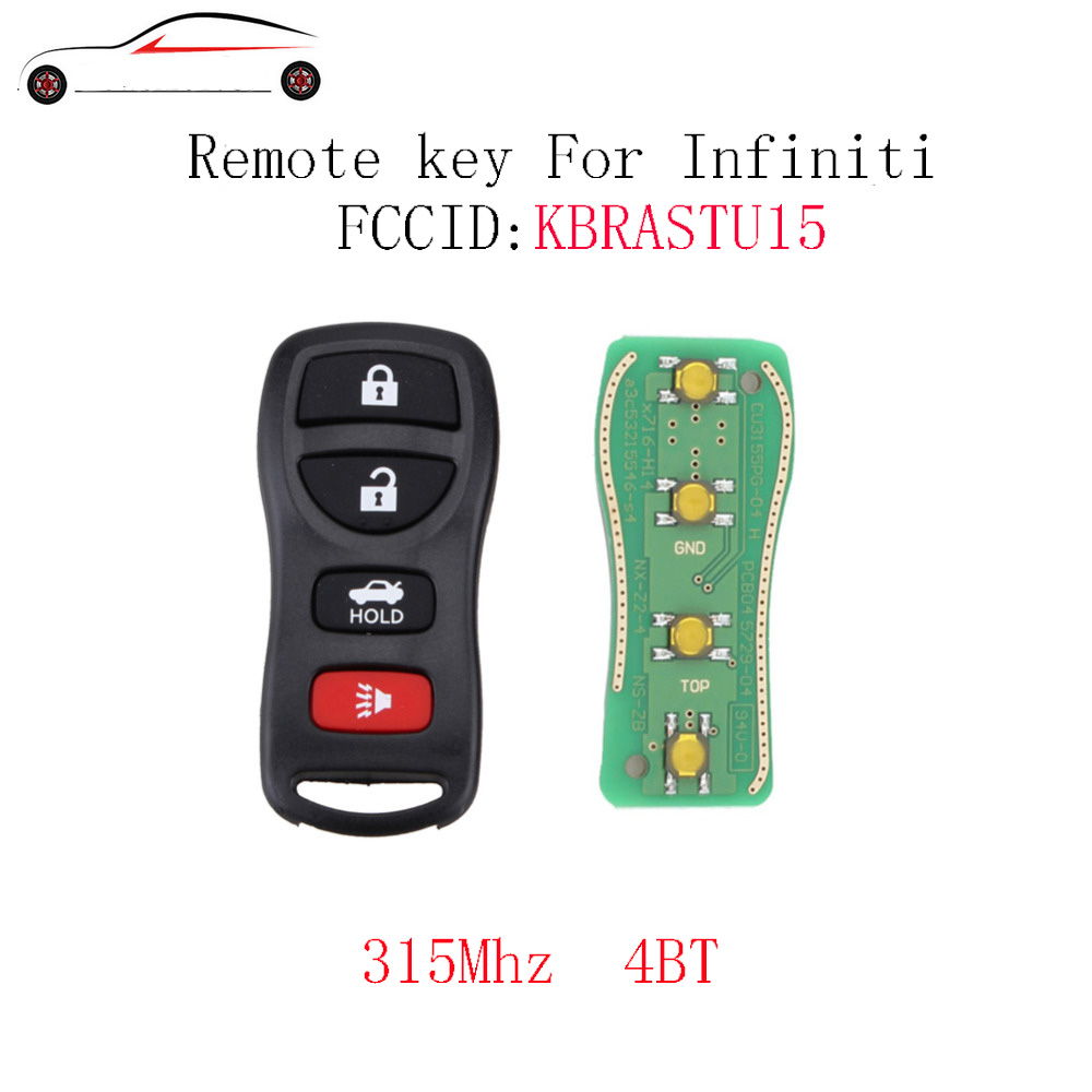 US $3 28 11% OFF|GORBIN 4BT 315Mhz Remote Key Fob DIY For Infiniti G35 Q45  2002 2003 2004 2005 2006 For Infiniti QX56 2004 2010 Keyless Entry-in Car