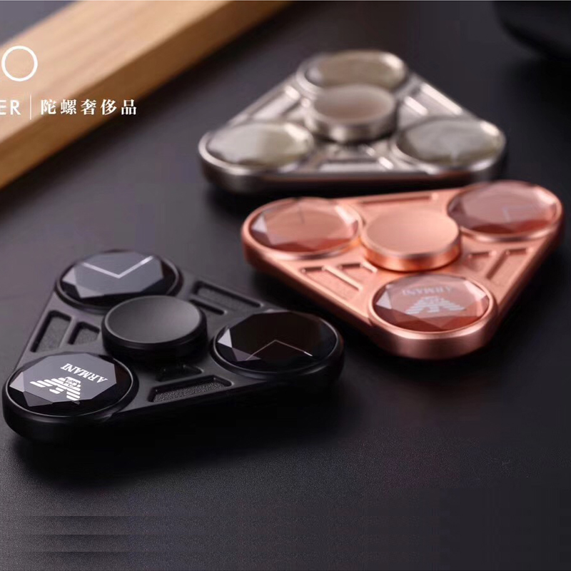 Latest Products 100Pcs Mixed luxuries Finger Spinner Aluminium Alloy Adults Anti Stress Toys Autism ADHD Funny EDC Hand Spinner
