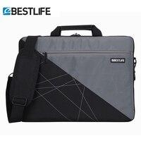 BESTLIFE Mixed Color Laptop Tablet Business Briefcase For Men Female With Belt Unisex Shoulder Bag For