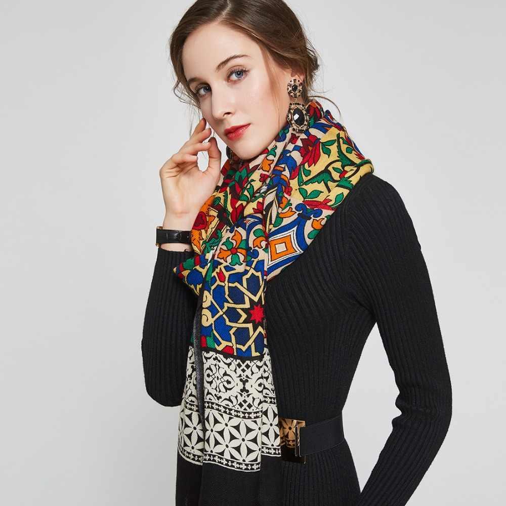 Dana xu novo 100% lã bufanda mujer cabeça cachecóis feminino elegante pashmina quente xale lenço hijab foulard femme poncho