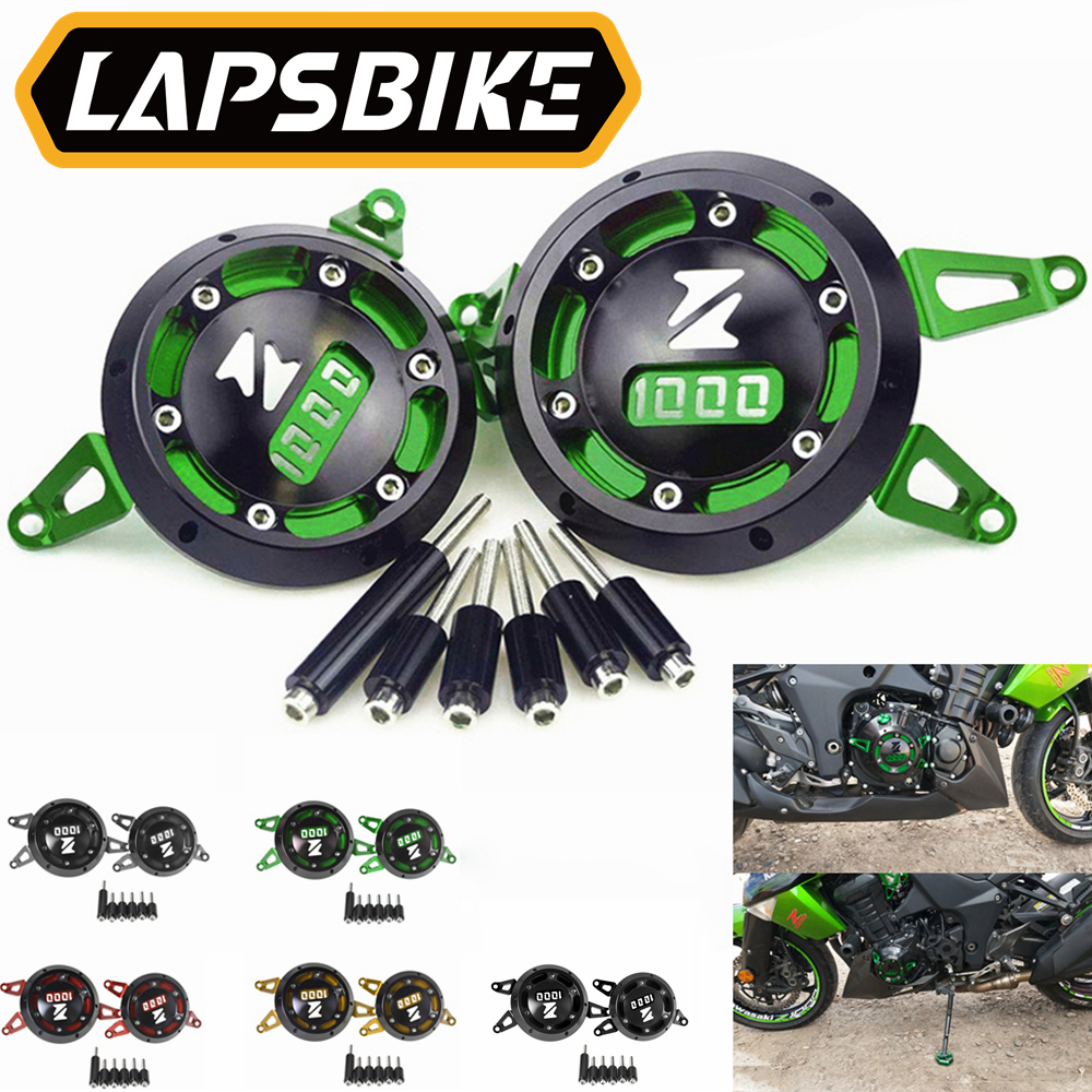 CNC Aluminum Motorcycle Engine Guard Side Stator Case Guard Protector Green for Kawasaki Z1000 <font><b>Z1000SX</b></font> <font><b>2011</b></font> - 2017 2018 2019 image
