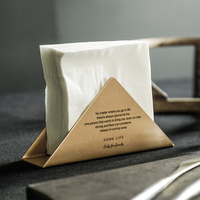 Nordic Gold Matte Metal Storage Basket Iron Coffee Shop Napkin Business Card Holder Desk Storage Organizer for Hotel Office