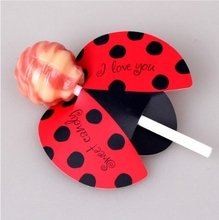 50 sztuk/zestaw owad cukierki Lollipop karty dzieci urodziny dekoracja na przyjęcie ślubne cukierki prezenty dekoracje ślubne