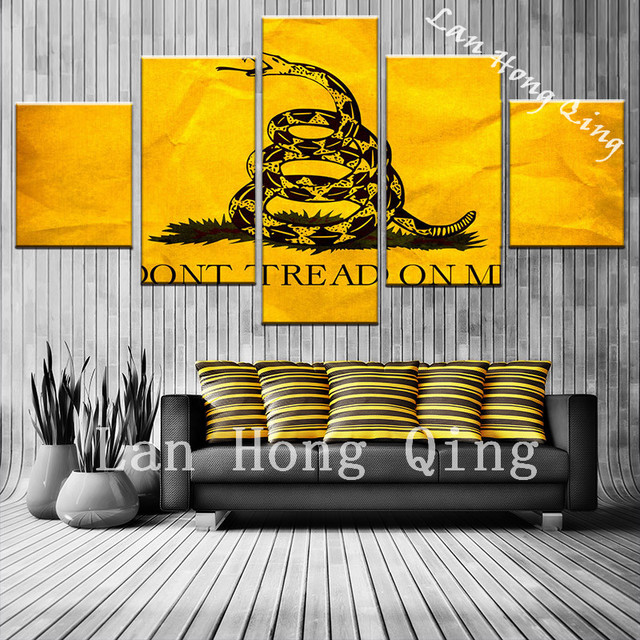 New arrival 5 pieces fierce animals snake canvas painting for ...