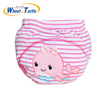 Mother Kids Baby Bare Cloth Diapers Boys Girls Washable Reusable Nappies Cotton Training Panties