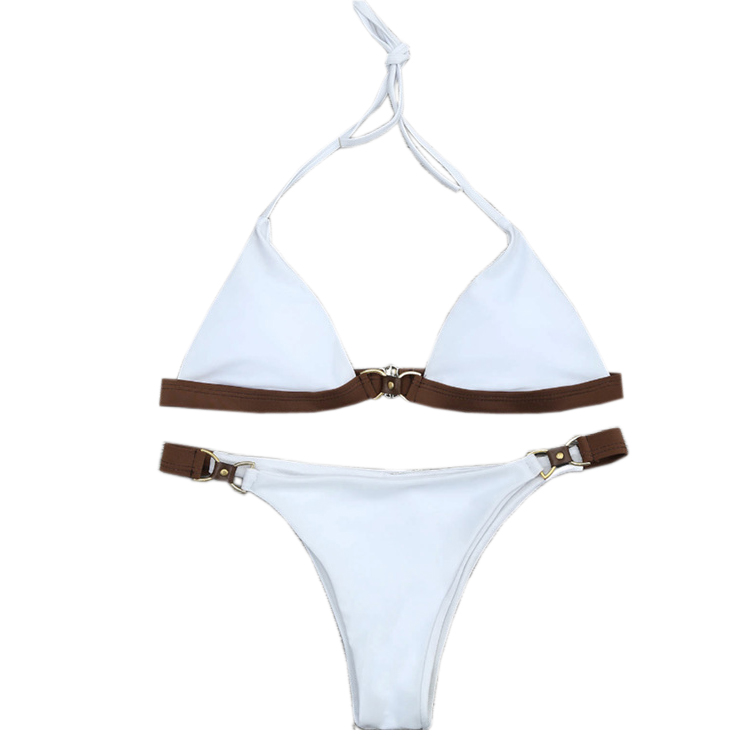 Nuevo Color sólido Bikini Set traje de baño