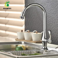 Genuine REEMARS High Quality Total No Lead Kitchen Sink Tap Single Cold 360 Swivel Mixer Nickel