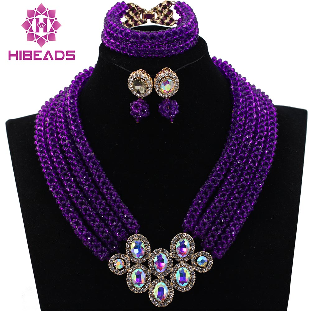 Free Shipping!Costume African Fashion Jewelry Sets Big Nigerian African Purple Beads Wedding Jewelry Set Wholesale HX480Free Shipping!Costume African Fashion Jewelry Sets Big Nigerian African Purple Beads Wedding Jewelry Set Wholesale HX480