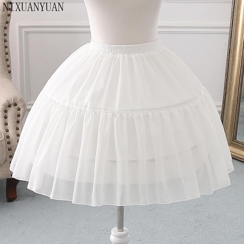 NIXUANYUAN 2020 Organza Ball Gown Short Petticoat Lolita Cosplay Short Dress Petticoat Ballet Tutu Skirt Rockabilly Crinoline