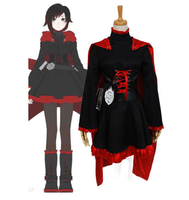 Rwby roja remolque rubí Cosplay traje uniforme anime Halloween