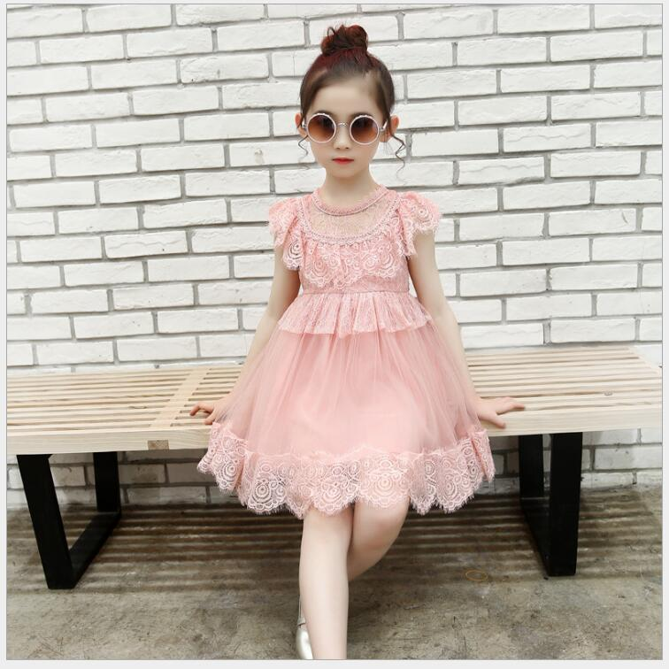flower girl lace dress for girl 12 years old elegant solid lace princess dress for wedding and birthday party costume for a girl elegant lady lace flower and fascinator veil design banquet party black cocktails hat