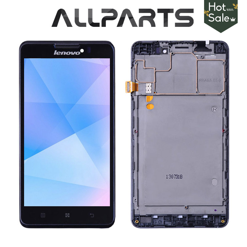 100% Original 5.0 Inch Display For LENOVO P780 LCD Touch Screen Digitizer with Frame Assembly Replace For LENOVO P780 Display
