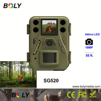 Small size Bolyguard hunting trail game cameras wildlife scouting 940nm black IR invisiable LED 4 AA batteries 16MP photo traps