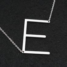 Модные ожерелья для женщин 2018 Большие 26 буквенные ожерелья из Нержавеющей Стали Цепочка чокер femme женские ювелирные изделия DHL Бесплатная оптовая продажа