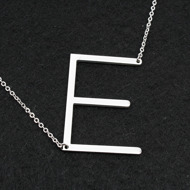 Fashion necklaces for women 2018 big 26 Letter Necklaces  stainless steel chain choker femme women jewelry DHL free wholesa
