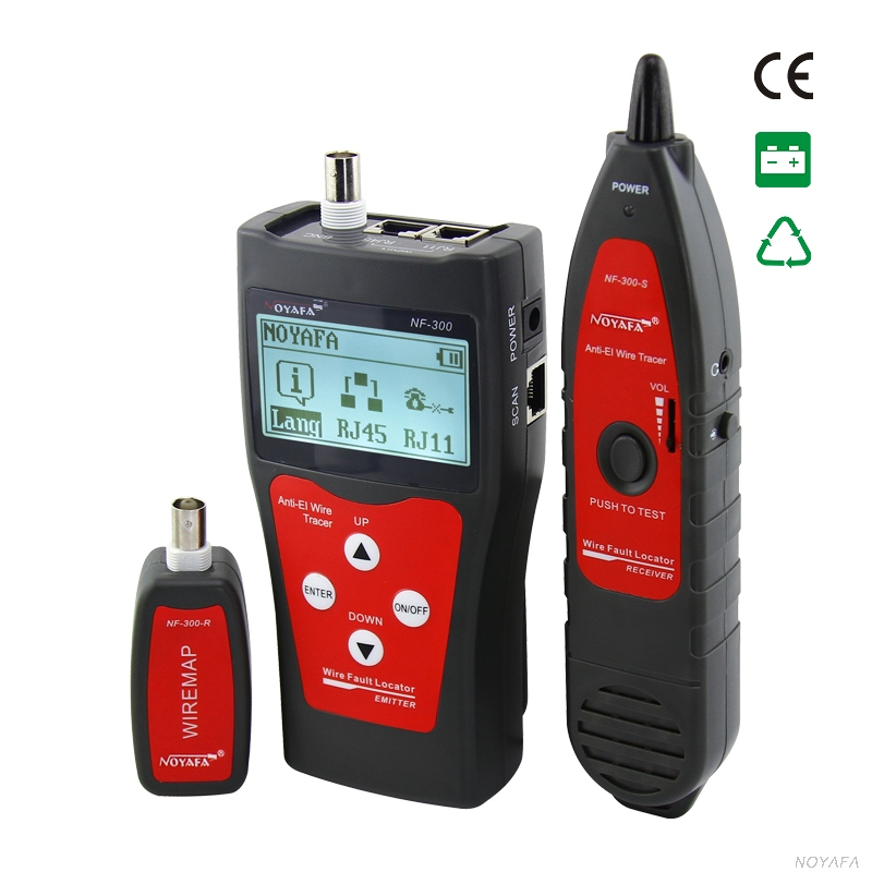 NOFAYA NF-300 Lan tester RJ45 LCD cable tester Network monitoring wire tracker without noise interference