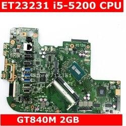 ET2323I I5-5200CPU GT840M 2Gb Moederbord Rev 1.3 All-In-een Moederbord Voor Asus ET2323I ET2323 Moederbord 90PT0110-R03000 usb 3.0