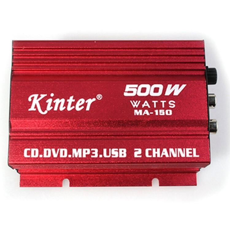Hot Auto Power Subwoofer Amplifier Car Audio Stereo Amplifier Hi-Fi 12V 2CH USB Mini Digital Motorcycle / Boat /MP3/MP4/CD