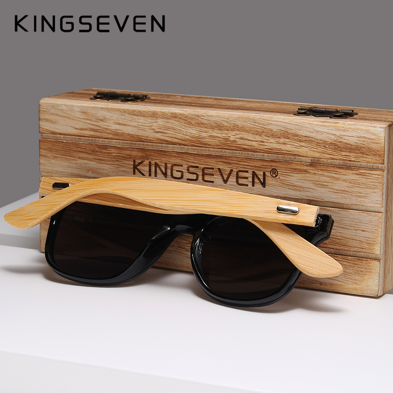 Image 5 - KINGSEVEN 2019 Bamboo Polarized Sunglasses Men Wooden Sun glasses Women Brand Original Wood Glasses Oculos de sol masculino-in Men's Sunglasses from Apparel Accessories