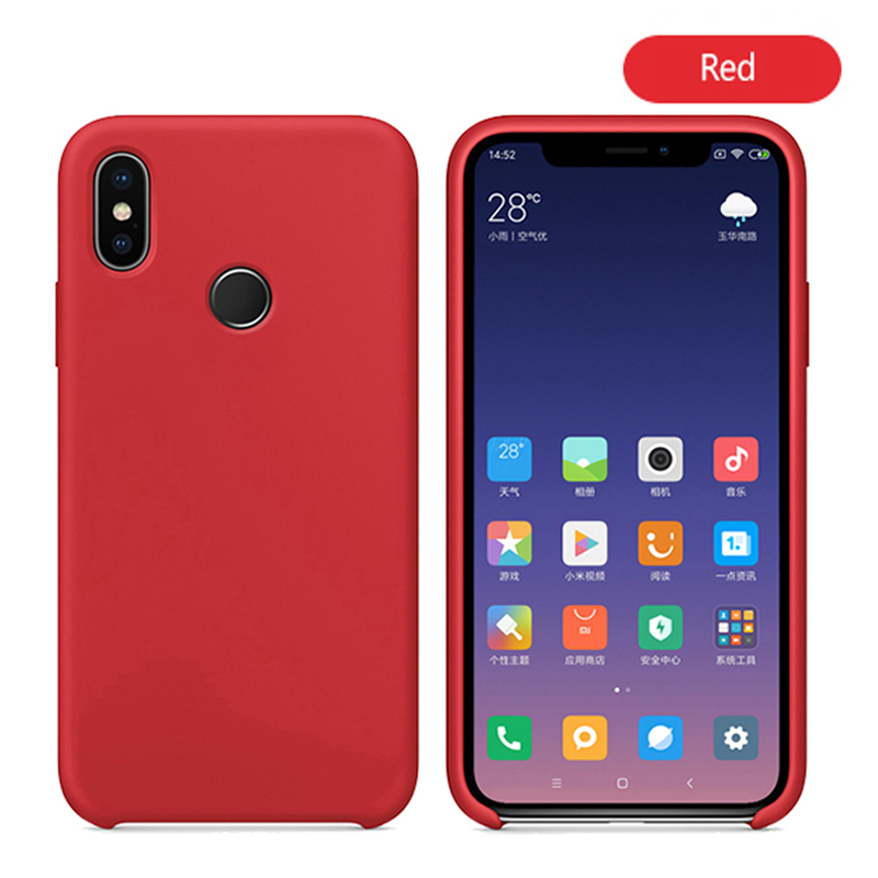 Original With Logo Silicone Phone Case For Xiaomi Mi 8 8 SE Mi 6X A2 Mix 2S Case Official Cover For Xiaomi Cases With Retail BoX (18)