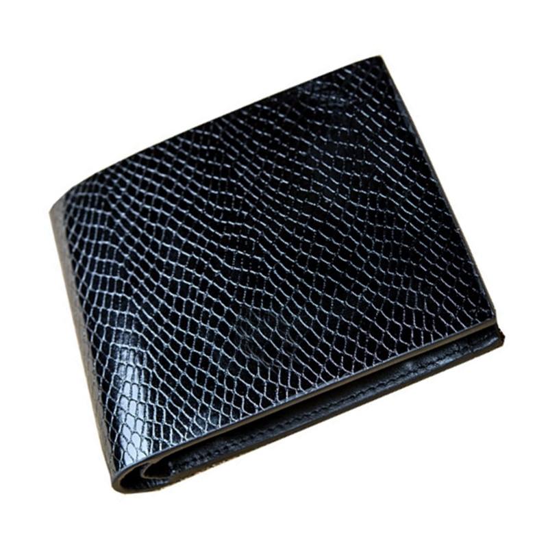 Des Hommes de luxe Portefeuille Marque Homme Portefeuille Serpentine Avec porte-monnaie des pièces Vêtements À Coudre Tissu En Cuir Véritable