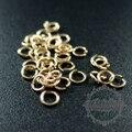 24 калибр 0.5 x 3 мм 14 К золото заполненные высокое качество цвет не потускневший один прыжок кольцо холодильное оборудование ювелирных изделий jumpring 1545008