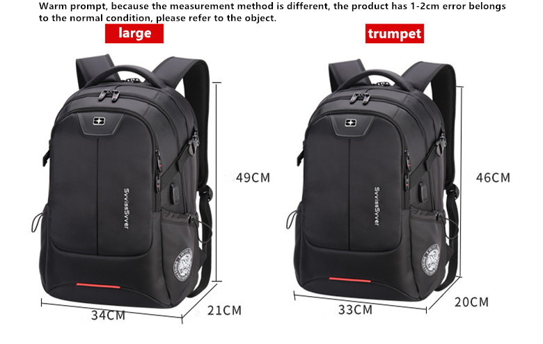 Image 5 - svvisssvver multifunction large capacity male bag fashion travel usb charging waterproof anti theft 15.6inch laptop backpack men-in Backpacks from Luggage & Bags