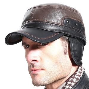 Image 5 - Boné de beisebol de fibonacci para homens bonés de beisebol de alta qualidade retalhos de couro ajustável flatcap chapéus de inverno snapback meia idade pai boné
