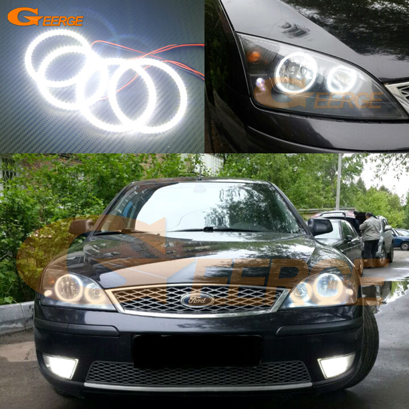 For FORD Mondeo MK3 2001 2003 2004 2005 2006 2007 Excellent angel eyes Ultra bright illumination smd led Angel Eyes kit for bmw e60 e61 525i 530i 540i 545i 550i m5 2003 2004 2005 2006 2007 excellent ultra bright illumination smd led angel eyes kit