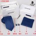 Caixas de presente 6 conjuntos gravata dos homens do ponto de laços corporativos de negócios ternos de casamento gravata