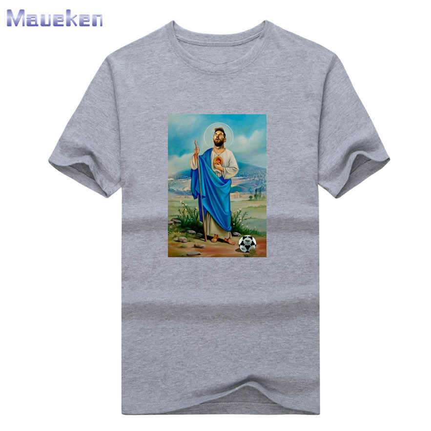 ab6b337e 2018 Lionel Messi new god fashion T-Shirt Men Short Sleeve O Neck T shirts