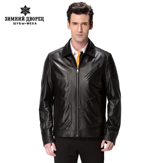 New Hot leather jacket men,Genuine Leather,Mandarin Collar,Sheepskin,Man coat,Genuine leather jacket men,Real leather jacket men