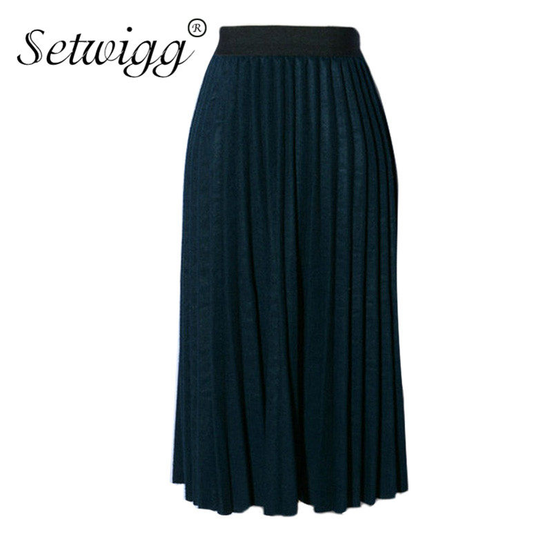 Popular Wool Pleated Skirt-Buy Cheap Wool Pleated Skirt lots from ...