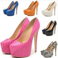 animal snakeskin print pu leather crocodile concealed platform stilettos party clubwear shoes leopard sexy pums plus size 40 41