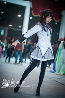 2016 Puella Magi Madoka Magica Cosplay Costume Akemi Homura Cosplay Battle Dress