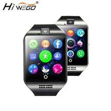 Smart Watch Men Q18 Passometer Smart watch with Touch Screen camera Hiwego Bluetooth font b smartwatch
