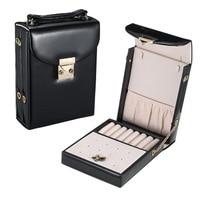 JULY S SONG PU Leather Jewelry Box Women Portable Travel Mini Make Up Organizer Jewelry Storage