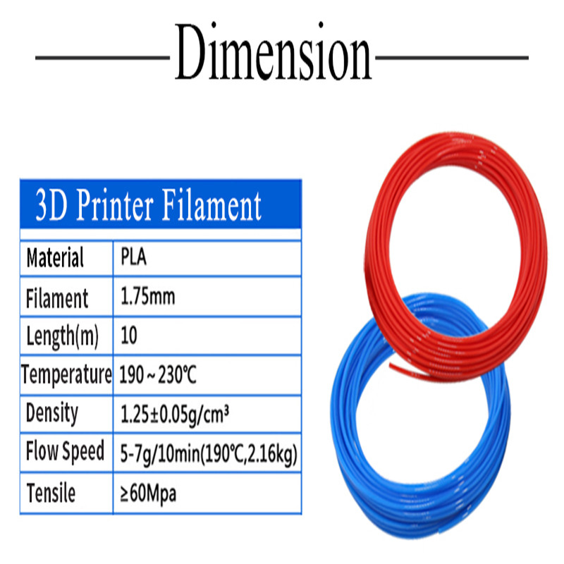 10 Meter <font><b>PLA</b></font> 1.75mm Filament Printing Materials Plastic For <font><b>3D</b></font> Printer Extruder <font><b>Pen</b></font> Accessories Black White Red Colorful Rainbow image