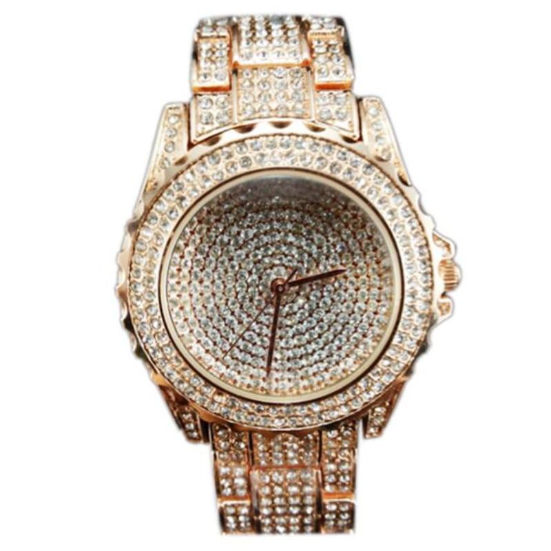474e48bb70 2017 nueva marca mujeres de lujo miran el cuarzo cristalino de cerámica del  rhinestone relojes señora reloj montre Femme regalo DORP envío