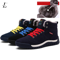 Plus Size Witner Warm Men Running Shoes High Top Quality Brand Male Sneakers Lace Up Flat