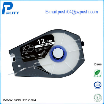 Hot Sale Mixed 10pcs/lot Compatible Cable ID Printer Mk2500 Tape white and yellow label tape PT-11109W PT-1112Y PT-1112W