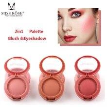 MISS ROSE 12 colores Polvo de colorete mate brillo duradero corrector de color de la piel Rubor Polvo Maquillaje TSLM2