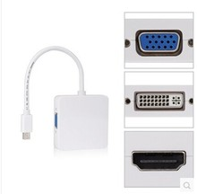 Top qualität Mini DP displyport Thunderbolt zu DVI VGA HDMI Adapter 3 in1 für Apple MacBook Pro-luft iMAC Freies verschiffen