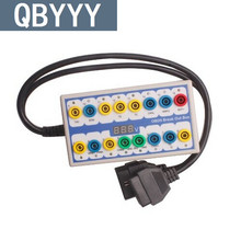 QBYYY Protocolo OBD2 Detector Break Out Box 2 em 1 OBD II-Break out box detector protocolo para a programação chave e chip tuning