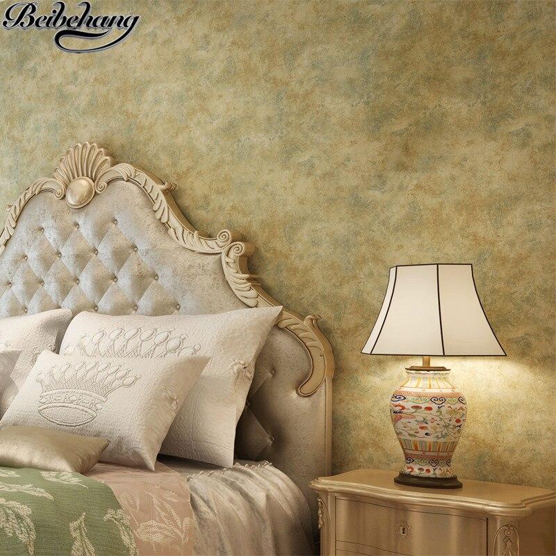 Beibehang américain rétro plaine fait vieux papier peint éplucher le papier peint de chambre la tête d'un lit le salon papier peint