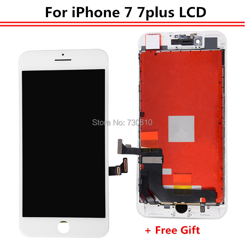 imágenes para Regalo libre + Calidad No Tianma LCD Pixel Muerto Reemplazo Para iPhone 7 7 Plus Pantalla LCD Con Pantalla Táctil Digitalizador asamblea
