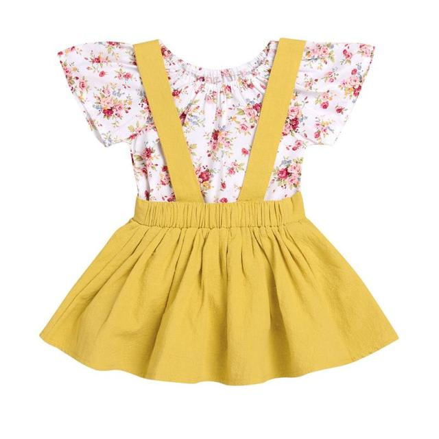 050f7108cff2 Cute Newborn Infant Carters Kid Baby Girl Clothes Cotton T-shirt Floral  Romper Lovely Jumpsuit