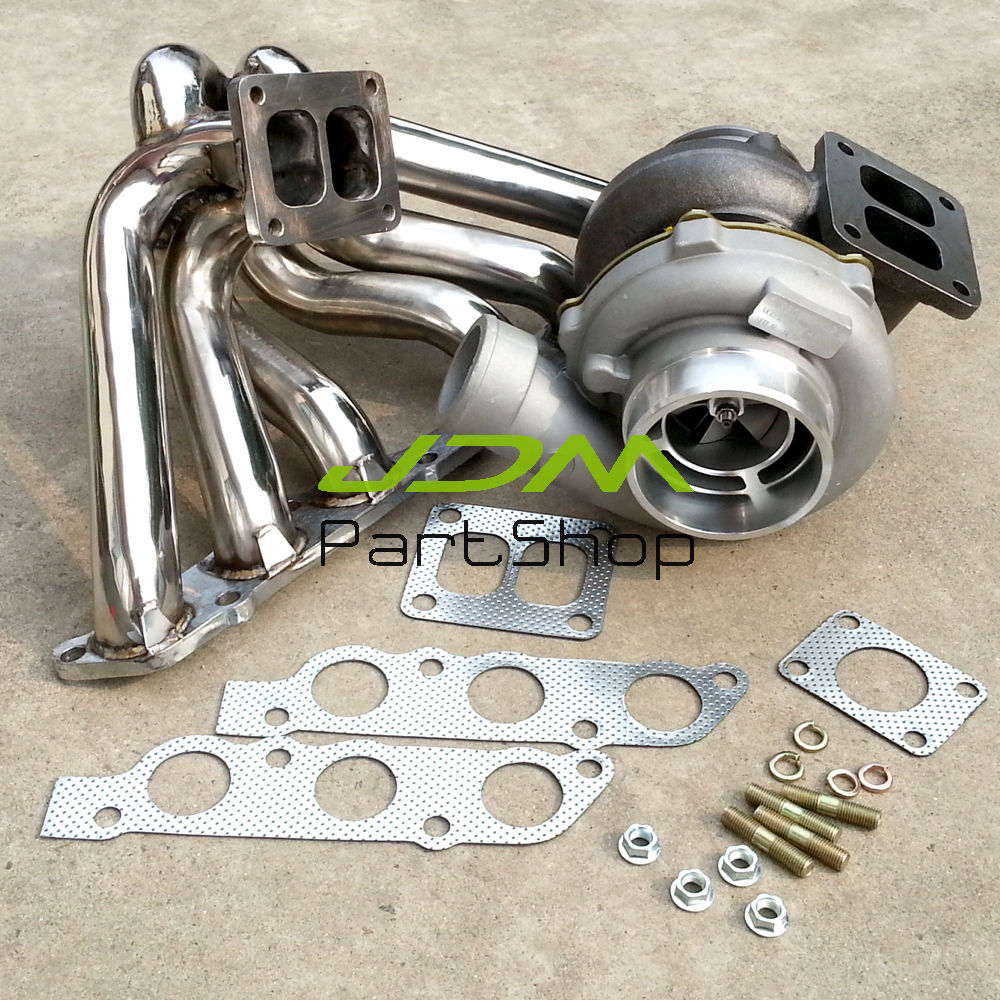US $344 47 5% OFF Exhaust Manifold+GT45 AR 70 AR1 00 water turbocharger for  Supra SC300 GS300 IS300 2JZ GE-in Turbo Chargers & Parts from Automobiles
